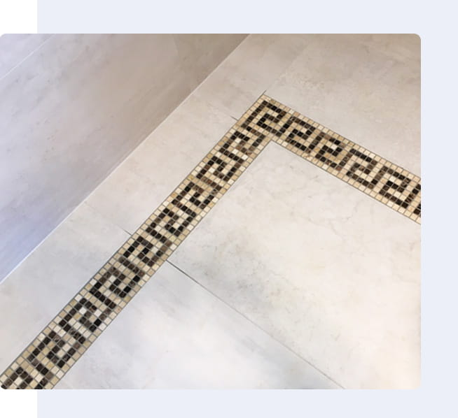 Entryway Tiled Borders Project Image By Vittorio's Tiling