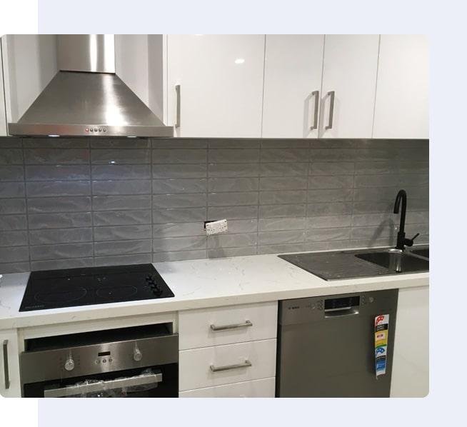 Kitchen Splashback Tiling Project Image By Vittorio's Tiling